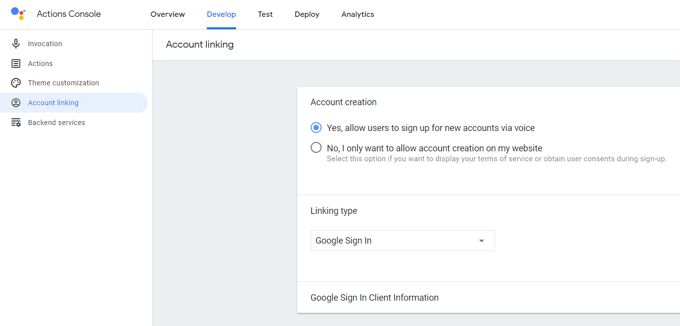enabling account linking